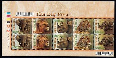 SOUTH AFRICA MNH 2001 The Big Five Sheetlet