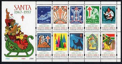 SOUTH AFRICA MNH 1997 Christmas Sheetlet