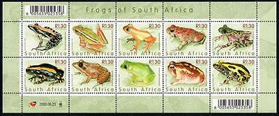 SOUTH AFRICA MNH 2000 Frogs of South Africa Sheetlet