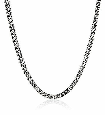 Men's Antique Finish Stainless Steel Wheat Chain Necklace FREE SHIPPING