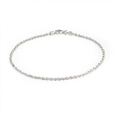 Bling Jewelry 925 Sterling Silver Rope Chain Anklet Italy FREE SHIPPING