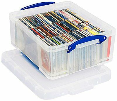Really Useful Box 18 Litre CD DVD Storage - Clear