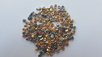 Watch crown Old Style Swiss Stainless steel yellow & White color Mix 100pcs lot