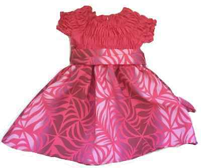 NEW Pink White Baby Girl Dress Handmade Style for 12-24 months old