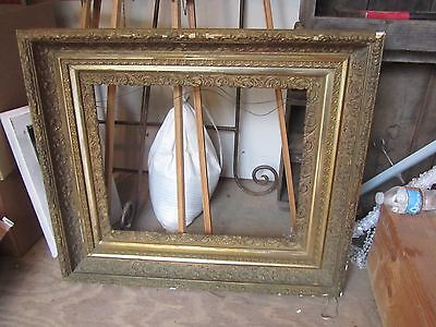 Heavy Antique Victorian Gilt Gesso Wood Picture Frame fits 16 x 20 Art Ornate