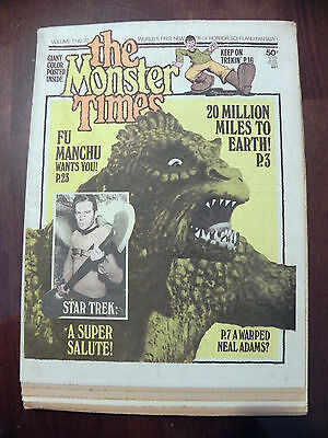 The Monster Times 1973 Fu Manchu Magazine Comic #20