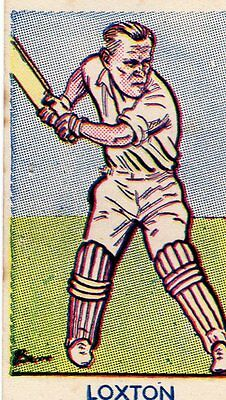 Scarce Cricket Card Of S. Loxton By A & J Donaldson
