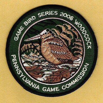 Pa Pennsylvania Game Commission NEW 2008 Woodcock Game Bird series patch