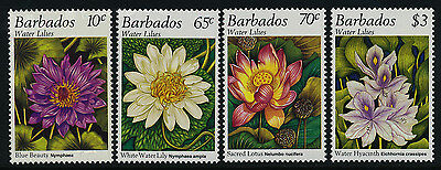 Barbados 905-8 MNH Flowers, Water Lilies