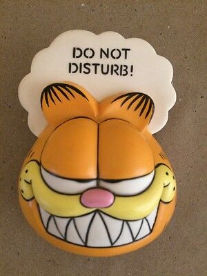 Vintage Garfield Refrigerator Magnet Paper Holder Clip Do Not Disturb