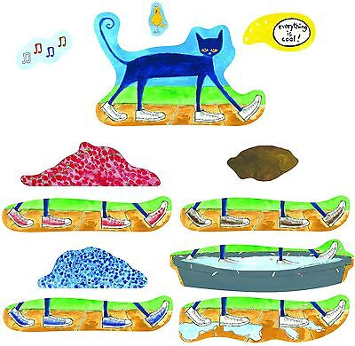 Pete The Cat I Love My White Shoes felt figures flannel board stories