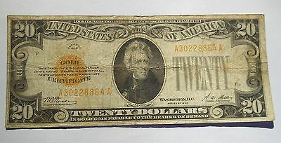 Series 1928 Twenty $20 Dollar Gold Certificate.