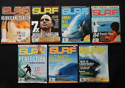 Transworld Surf Magazine 2006 Used Lot Of 7 Issues Vol.8  Surfer Surfing