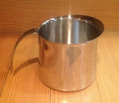 Krups Frothing Pitcher 18 - 8 Stainless Steel Large 20 Ounces Milk Cream Coffee