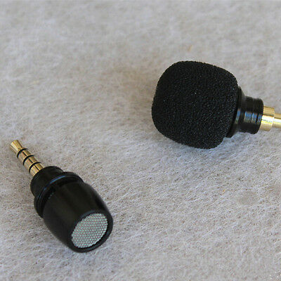 3.5mm Microphone Notebook Laptop Mobile Phone Gift Black Mini Stereo Microphone
