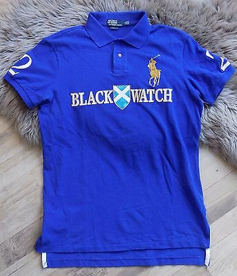 "Polo by Ralph Lauren ""Black Watch"" Polo Big Pony Custom fit Rugby Golf T Shirt L"