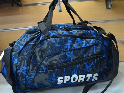 3 ways Sports Gym Bag  Large Travel Overnight bag Carry shoulder backpack -88019