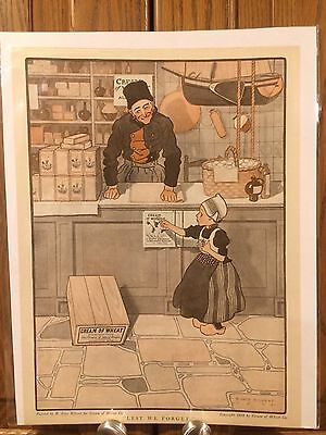 Cream Of Wheat Ad 1908  Dutch Theme Lest We Forget