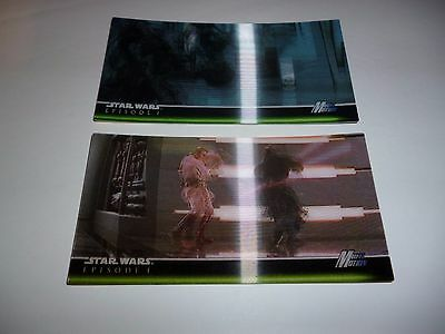 Topps Star Wars Episode 1 Widevision - 3D - Multi Motion Chase trading card set