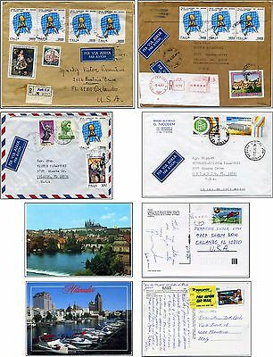 6 items: ITALY WORLD CHAMPION SOCCER 1982 & other soccer stamps, also Czech & US