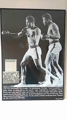 Personally hand signed, and framed poster of Muhammad Ali