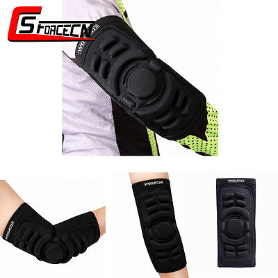 1pc Cycling Silicone Padded Elbow Pad Protector Brace Support Arm Guard Sports
