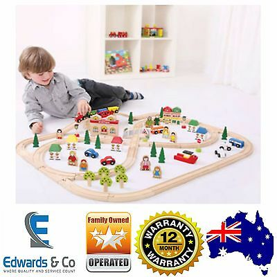 Childrens Wooden Train Set Town Country Toys Thomas the Tank Brio Toddlers Kids