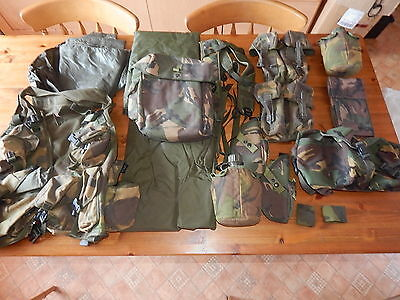 Job Lot of British Military DPM Webbing/Pouches/Ponchos (003)