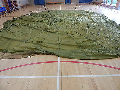 British Army Olive Green Parachute Canopy - Ideal Bushcraft/Collectors