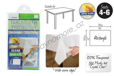 Transparent Plastic Tablecloth Protector PVC Clear Dining Picnic Bar Table Cloth
