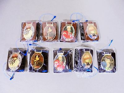 Lot of 9 THE KING OF FIGHTERS Vintage Keychain 1997 Chris Yashiro Shermie Kyo