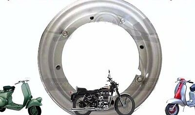 "Vespa 8'' Wheel Rim 3.50 X 8 "" Open Steel Vespa Vbc V8010 Scoots Super  @aud"