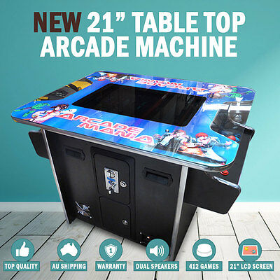 "NEW 21"" Arcade Machine Tabletop Upright Cocktail Video Game Pinball Pool Pacman"