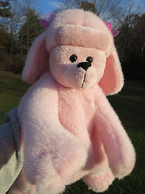 "Pink Puddle Plush Dog 18"" Bag Back Pack Girl Toddler Preschooler  Gift"