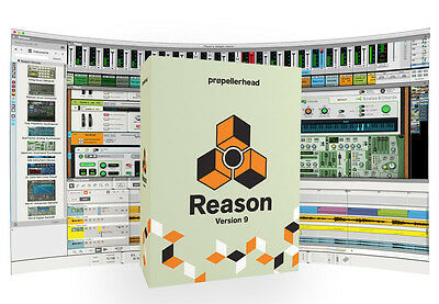 Propellerhead Reason 9 Audio MIDI Registrazione Software (NUOVA)