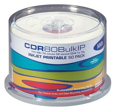 HHB Argent 80 minutes CDR Blanc, Imprimable (Tube of 50)