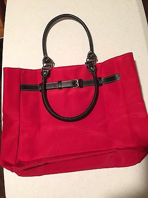 ALLURE Red Double-Handle Tote with Magnetic Closure