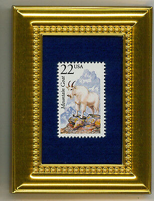 Mountain Goat A Collectible Glass Framed Postage Masterpiece!