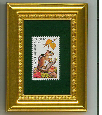 Eastern Chipmunk  -  A Collectible Glass Framed Postage Masterpiece!