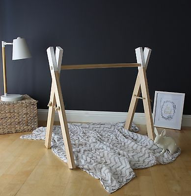 White Wooden play gym