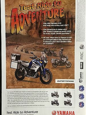 "YAMAHA XT1200Z SUPER TENERE # 2011 MODEL # ORIGINAL MOTORCYCLE ADVERT # 11"" x 8"""