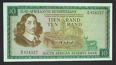 (1967)SOUTH AFRICA TW de JONG R10 ND Replacement note In Afrikaans Pick114b aUNC