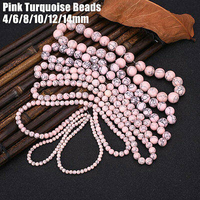 Pink Turquoise Gemstone Jewellery Making Spacer Beads Tools Accessories