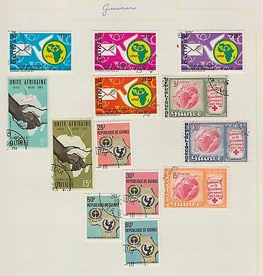 GUINEA COLLECTION UPAF, etc  on Old Book Pages,As Per Scan, Removed to Send #