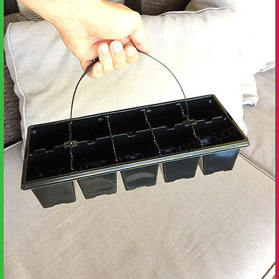 10 cell Seedling Punnet - PK of 20 - (KWIKPOT Tray) with optional handle