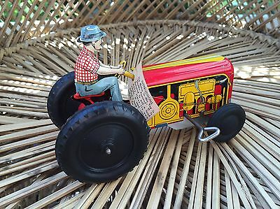 Vintage A Walt Reach Toy By Courtland Tin Toy Tractor