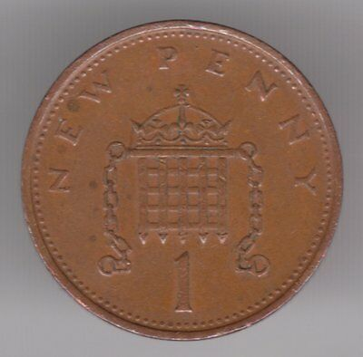 United Kingdom 1977 1p New Penny Bronze Coin