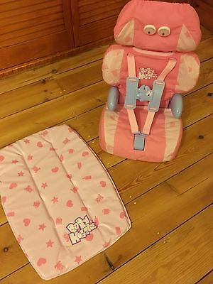Baby Huggles Car seat and changing mat in pink