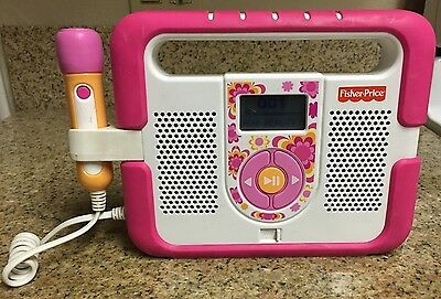 Fisher-Price Kid-Tough MP3 Music Player with Microphone (Pink)! RARE