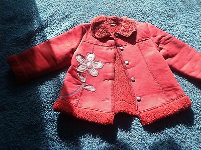 Mayoral girls red coat size 4